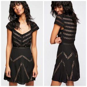 Free People Elle Cap Sleeve Mini Dress Sz 0 NWT